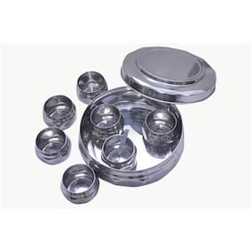 Diamond shaped Stainless Steel Spice Box Large