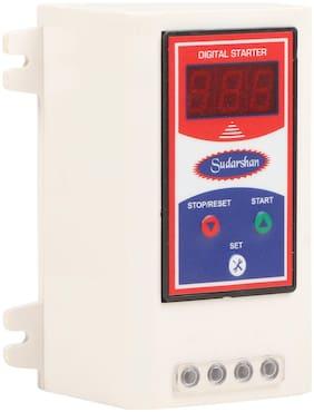 Digital AC Motor Starter with Start Stop, Set on High Voltage, Low Voltage, Overload Protection.