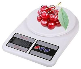 Digital Kitchen Weighing Scale, Capacity 10 KG, Battery Operated, White