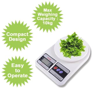 Digital Kitchen Weighing Scale Electronic Digital Kitchen Weight Machine,10 kg Weight Measure Spices Vegetable Liquids (Pack of 1)