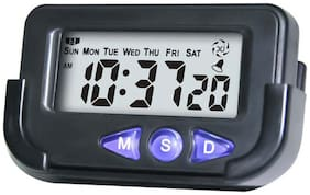 Digital LCD Alarm Table Desk Car Calendar Clock Timer Stopwatch with Flexible Stand Car Dashboard Office