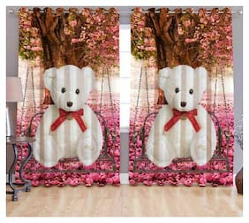 Digital Print Curtains for Window Eyelet Curtains 1 Pc only;Size - 5x4 Feet By Fresh From Loom