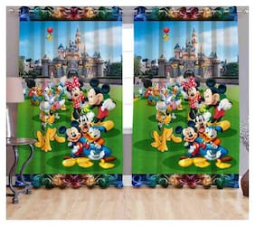 Digital Print Curtain for Long Door Eyelet Curtain 1 pc Size - 9x4 ft By Fresh From Loom