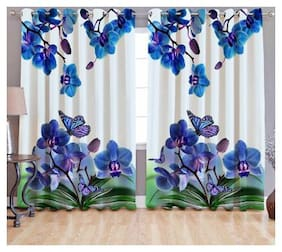 Digital Print Curtains for Long Door Eyelet Curtains 1 Pc only;Size - 9x4 Feet By Fresh From Loom