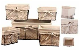 DII Vintage Chicken Wire Baskets for Storage Assorted Set of 5 Natural