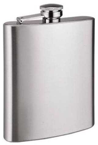DilSe elegant stylish stainless steel hip flask Silver Color