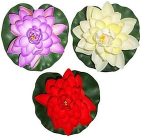 Dilse Floating Flower Artificial Water Lotus Home And Party Decorations Artificial Flower