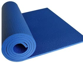 Dingga Decor Father Textile Fitness Anti-Slip Yoga Mat For Gym Workout Blue Color (2ft X 6 ft Size Yoga Mat)