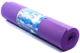 Dingga Decor Father Textile Fitness Anti-Slip Yoga Mat For Gym Workout Purple Color (2ft X 6 ft Size Yoga Mat)
