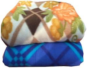 Dingga Decor;2 Pc Double Fleece Printed AC Blanket Multicolor (No color selection)