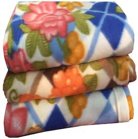 Dingga Decor;3 Pc Double Fleece Printed AC Blanket Multicolor (No color selection)