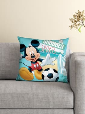 Disney- Athom Trendz- Mickey Mouse Cushion Cover with Filled Cushion