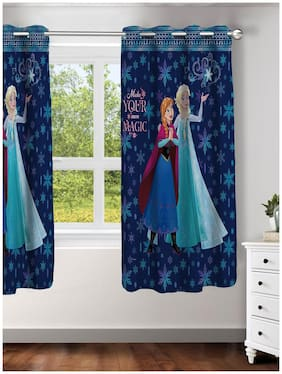 Disney- Athom Trendz- Frozen- Kids- Window Curtain- Single Piece- 48x58  (4ftx5ft)
