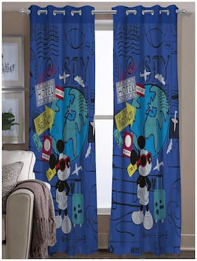 Disney- Athom Trendz- Mickey Mouse- Kids- Door Curtain- Set Of Two- 48x88 each (4ftx7ft)