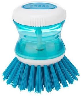 Dispenser Brush Cleaning Tool For Kitchen Use (Colours May Vary) Plastic Wet and Dry Brush (1Pc)