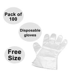 Disposable Plastic Hand Gloves (100 pcs)