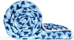 Divine Casa Ultra Soft Microfiber Reversible Geometric Print Blue and Navy Blue Single Comforter