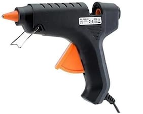 DIVYE Hot Melt Glue Gun (FREE 1 GLUE STICKS) - Heavy Duty 40 W Rapid Heating Technology Kit With Flexible Trigger - Black