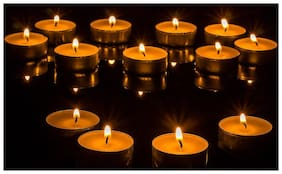 Xclusive Plus Paraffin wax White Candle