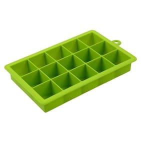 DIY Creative Big Ice Cube Mold Square Shape Silicone Ice Tray Green