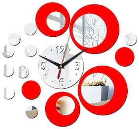 Shopper52 Acrylic Analog Wall clock ( Set of 1 )
