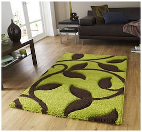 Dizen Star 5D High Quality Polyester Shaggy Carpets (SKU-CARPET-1083-5 ft x 7 ft)