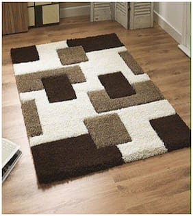 Dizen Star 4D  Polyester Shaggy Carpets (SKU-CARPET-153-3X5)