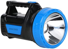 DOCOSS- 2 in 1 -ABS 25 W Ultra Bright Waterproof Rechargeable Led Torch Light Laser Long Range High Power Torch + Emergency Lights Tube (Multi Color)