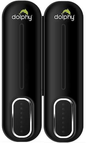 Dolphy ABS Liquid Soap Dispenser-300ml- Set of 2 ( Ovel Black )
