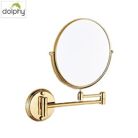 Dolphy Gold 5X Magnifying Shaving & Makeup Mirror