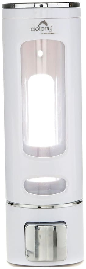 Dolphy White Color 400 ml Soap, Shampoo, Lotion Dispenser
