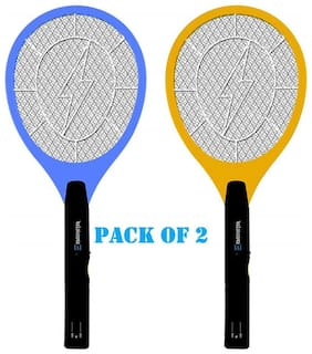Domazo Mosquito Killing Electric Insect Racket Suitable for All Sorts of Insects (Set of 2)