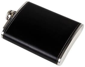 Domnic&Dennis Premium Quality Luxury Leather Wrapped Stainless Steel Hip Flask