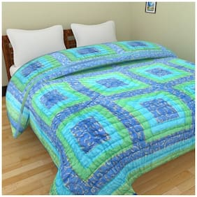 Shopping Store Cotton Printed Double Size Comforter Multi
