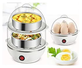 Double Layer Electric Egg Boiler, Cooker, Poacher and Milk Boiler fresh Double Layer Electric Egg Boiler, Cooker, Poacher and Milk Boiler egg cooker Double Layer Egg Cooker (14 Eggs)