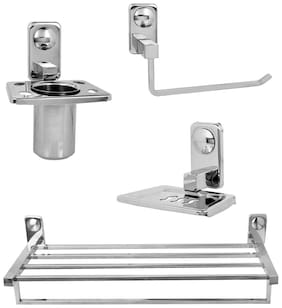 Doyours Glossy Stainless Steel Bathroom Set