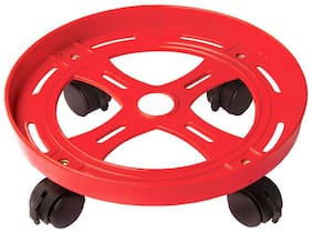 Doyours Red Gas Cylinder Trolley Anti Skid Locks Wheel