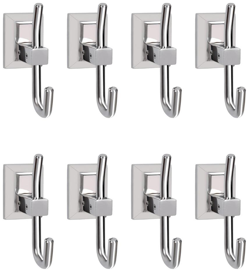 Doyours Stainless Steel Glossy Robe Hooks   8 pcs