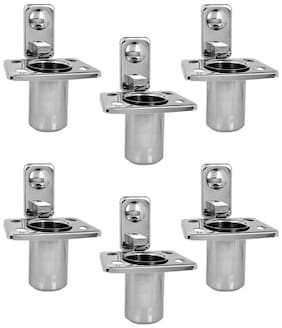 Doyours Stainless Steel Glossy Tumbler Holder - Set of 6 (Square series)