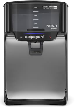 Dr. Aquaguard Nrich HD RO Water Purifier with Copper Maxx, 7 L (Black)