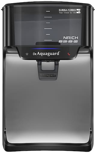 Dr. Aquaguard Nrich HD RO + UV Water Purifier with Copper Maxx, 7 L (Black)