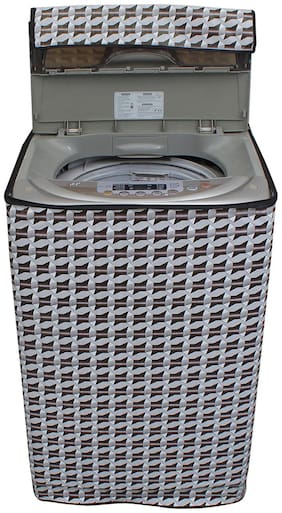 Dream Care Abstract Silver Coloured Waterproof & Dustproof Washing Machine Cover For Onida Splendor Xcel 62 Fully Automatic Top Load 6.2 kg Washing Machine