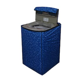 Dream Care Blue Printed Washing Machine Cover for Fully Automatic Top Loading Whirlpool Stainwash Deep Clean 6.5;6.2 kg