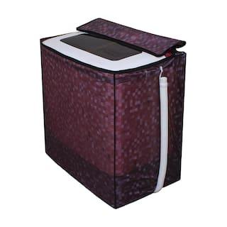 Dream Care Brown Printed Washing Machine Cover for Semi Automatic LG P7853R3SA 6.8 kg
