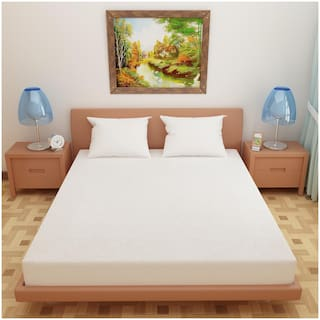 """Dream Care Waterproof Mattress Protector,Size: Standard bed(42""""x75""""),White"""
