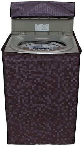 Dream Care Brown Printed Washing Machine Cover for Fully Automatic Top Loading Samsung WA62H4100HD 6.2 kg