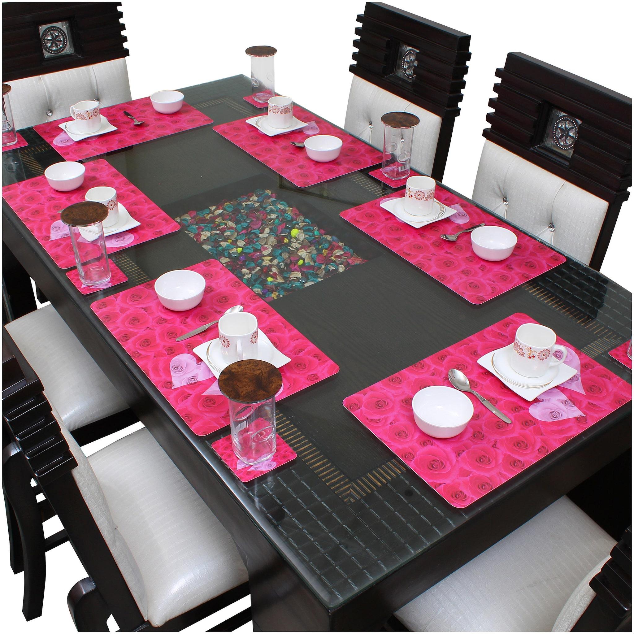 Dream Care Dining Table Placemats  6Pcs Mat + 6Pcs Coaster