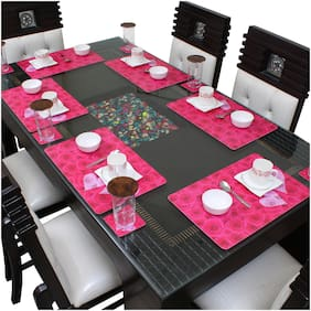 Dream Care Dining Table Placemats (6Pcs Mat + 6Pcs Coaster)