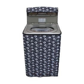 Dream Care Floral Grey Coloured Waterproof & Dustproof Washing Machine Cover For Midea Mwmtl070mwo Fully Automatic Top Load 7 Kg Washing Machine