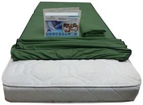 Dream Care Green Cotton Queen Size Mattress Protecter